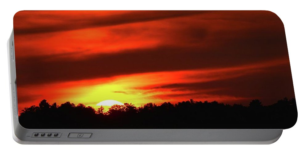 Abstract Portable Battery Charger featuring the photograph 7.27 Am 9-11-2017 Two by Lyle Crump