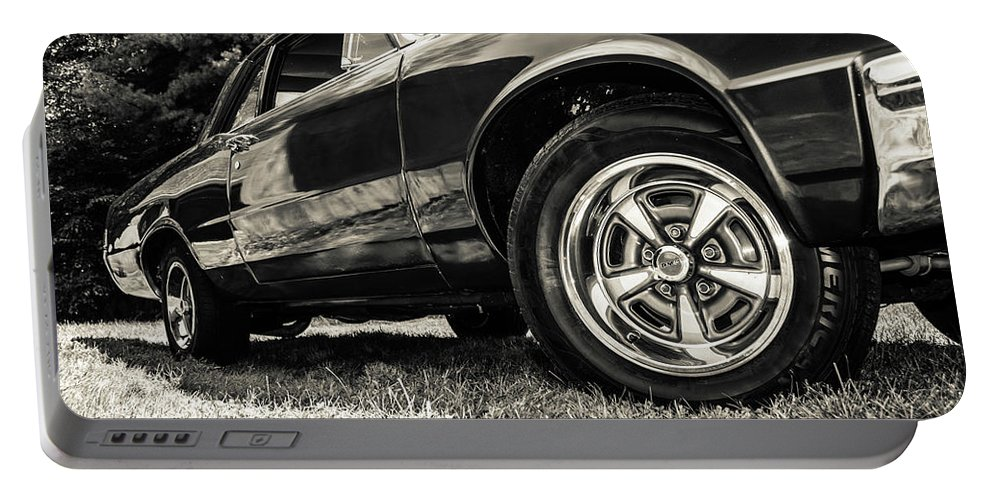 Lemans Portable Battery Charger featuring the photograph Classic Cars by Mickie Bettez
