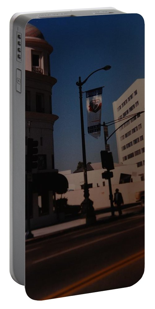 Hollywood California Portable Battery Charger featuring the photograph 75th Hollywood by Rob Hans