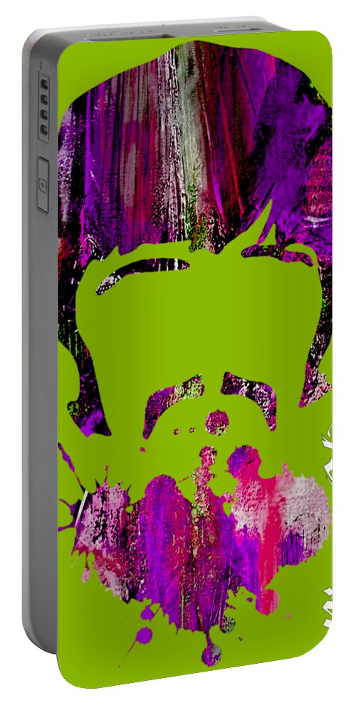 Ringo Starr Portable Battery Charger featuring the mixed media Ringo Starr Collection by Marvin Blaine