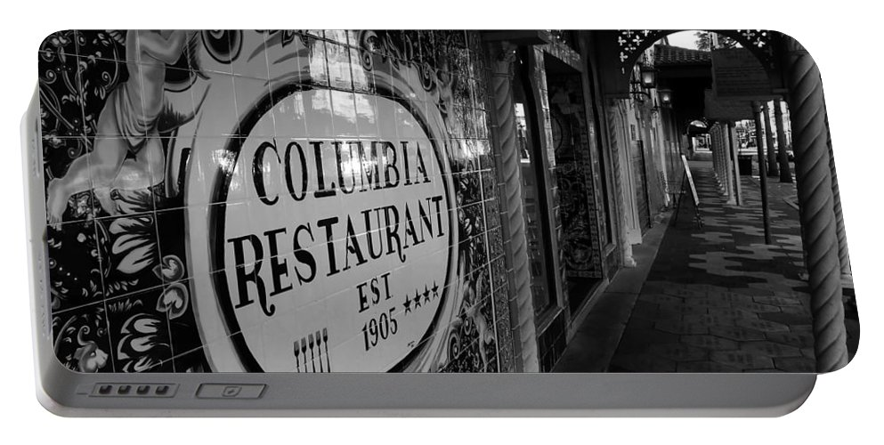 Columbia Restaurant Ybor City Florida Portable Battery Charger featuring the photograph 7th Ave Ybor City by David Lee Thompson