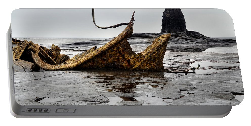 Admiral Von Tromp Portable Battery Charger featuring the photograph Admiral Von Tromp At Black Nab by Sarah Couzens