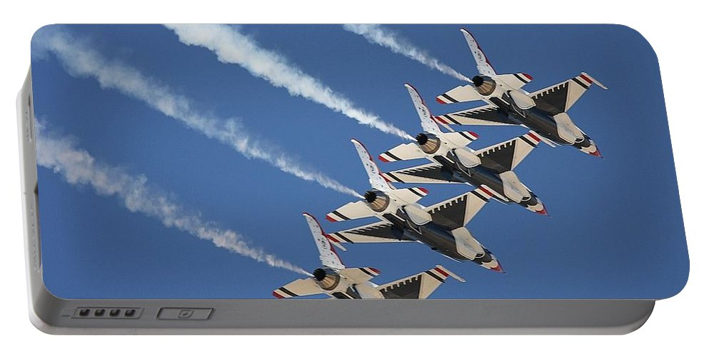 Aviation Portable Battery Charger featuring the photograph Air Show by FL collection