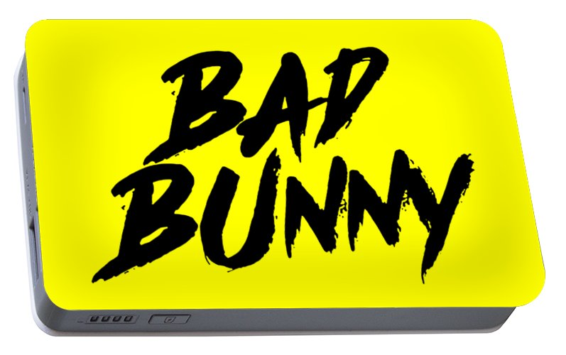 28fff2c925 Bad Portable Battery Charger featuring the digital art Bad Bunny by Pohon  Cingur