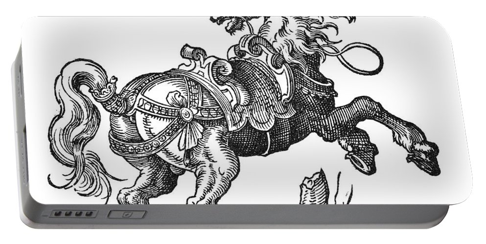 1584 Portable Battery Charger featuring the photograph Horse by Granger
