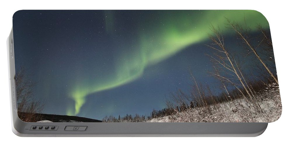 Night Portable Battery Charger featuring the photograph Northern Lights by FL collection