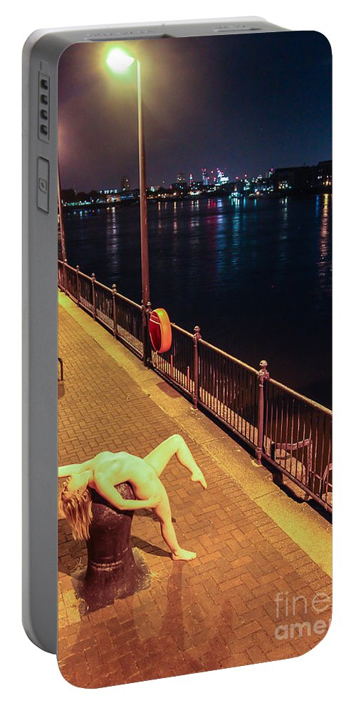 Fine Art Nude Portable Battery Charger featuring the photograph Satine Spark by Nocturnal Girls