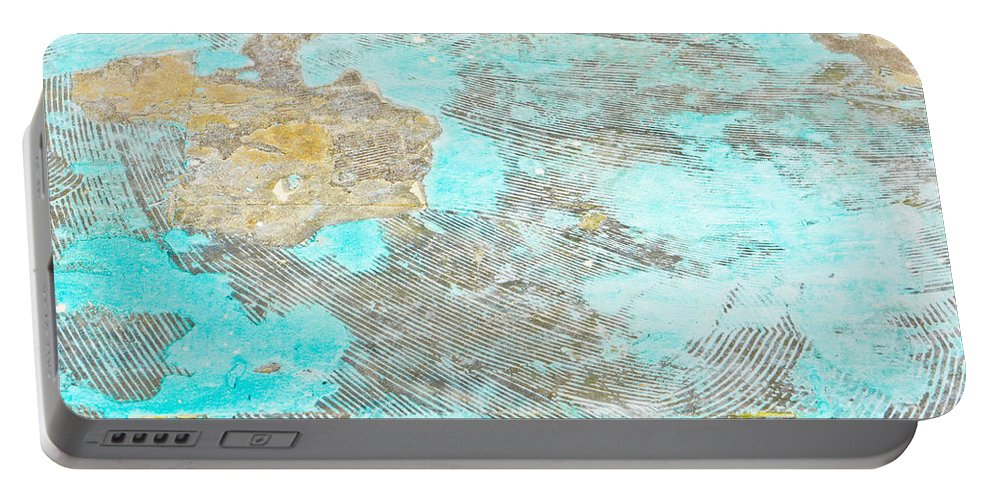 Abstract Portable Battery Charger featuring the photograph Stone Background by Tom Gowanlock