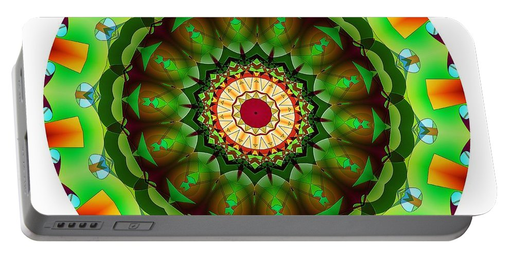 Talisman Portable Battery Charger featuring the digital art 811-04-2015 Talisman by Marek Lutek