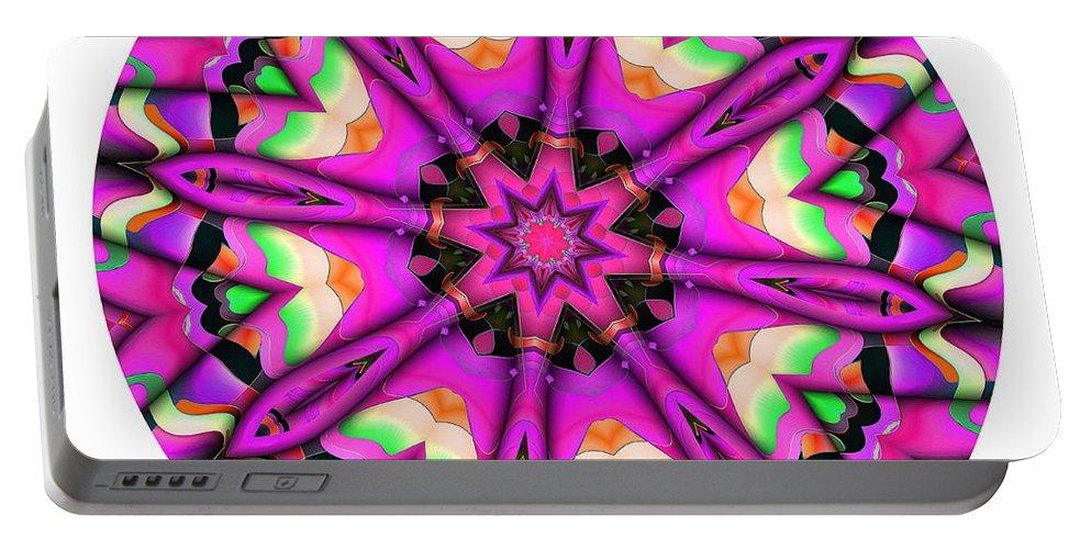 Talisman Portable Battery Charger featuring the digital art 821-04-2015 Talisman by Marek Lutek