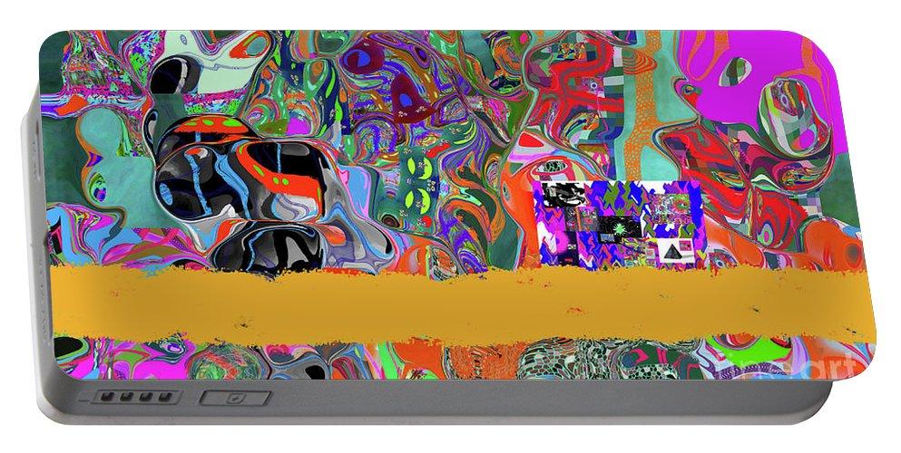 Walter Paul Bebirian Portable Battery Charger featuring the digital art 9-11-3057b by Walter Paul Bebirian