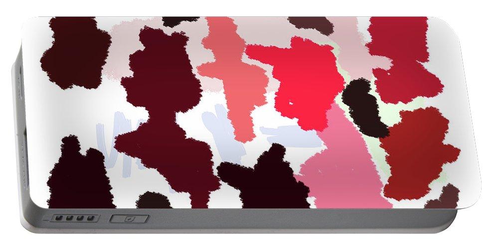 Walter Paul Bebirian Portable Battery Charger featuring the digital art 9-12-2057q by Walter Paul Bebirian