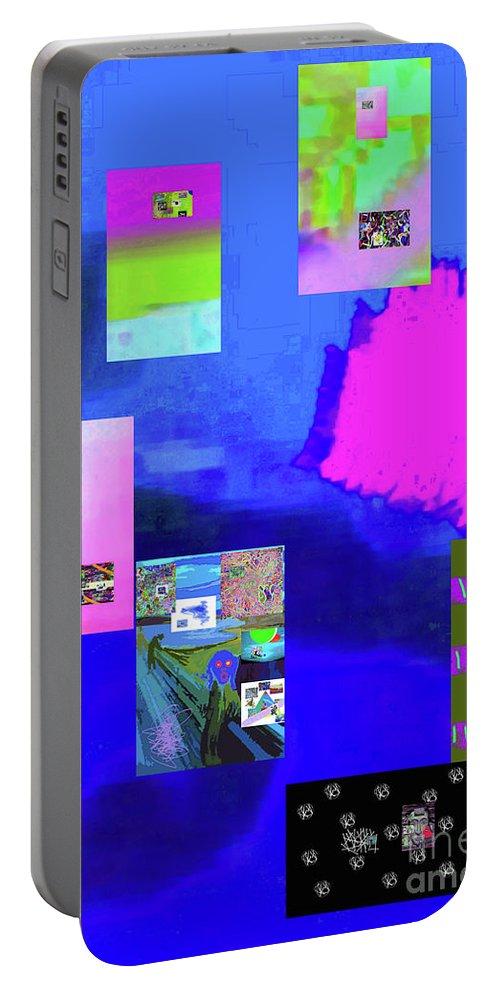 Walter Paul Bebirian Portable Battery Charger featuring the digital art 9-9-2015cab by Walter Paul Bebirian