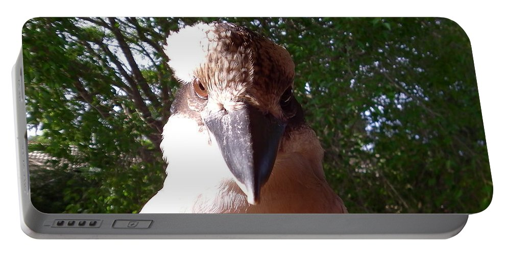 Australia Portable Battery Charger featuring the photograph Australia - Kookaburra I'm Looking At You by Jeffrey Shaw