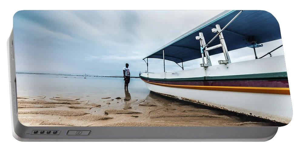 Architecture Portable Battery Charger featuring the photograph Bali Sunrise by Jijo George