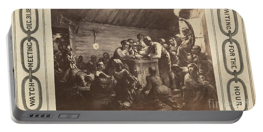 1863 Portable Battery Charger featuring the photograph Emancipation Proclamation by Granger