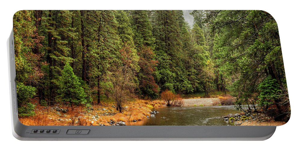 Merced Portable Battery Charger featuring the photograph Merced River Yosemite Valley by Paul Moore