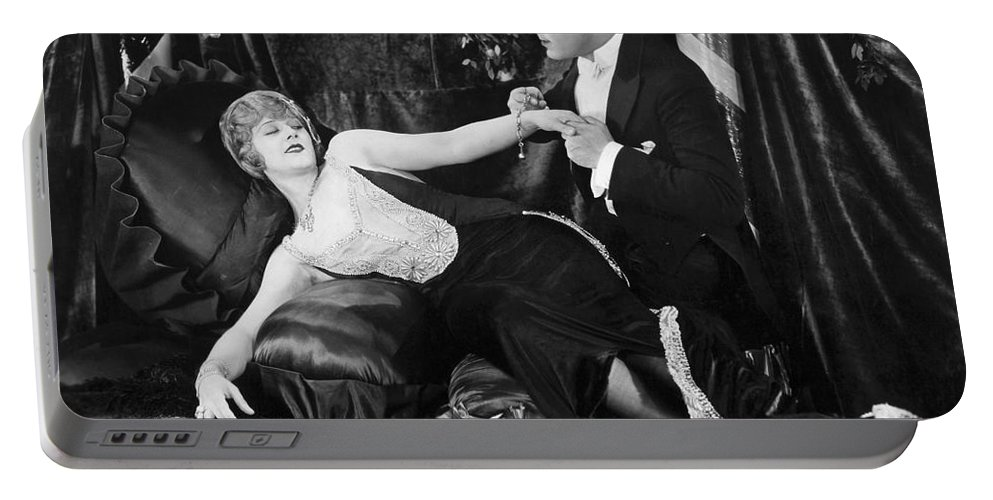 -one Man One Woman- Portable Battery Charger featuring the photograph Silent Still: Man & Woman by Granger