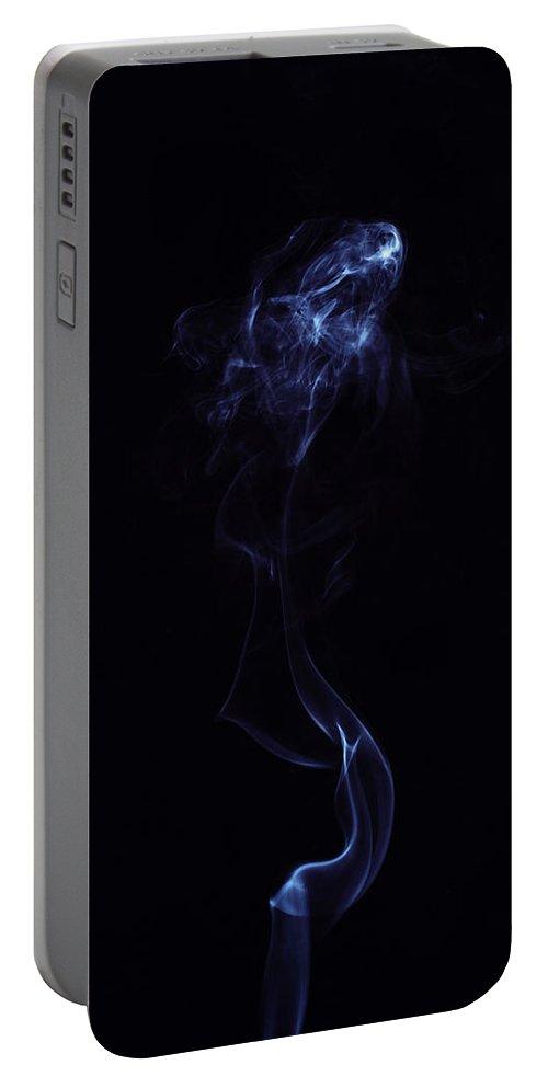 Smoke Portable Battery Charger featuring the photograph Smoke Art Photography by Kiran Joshi