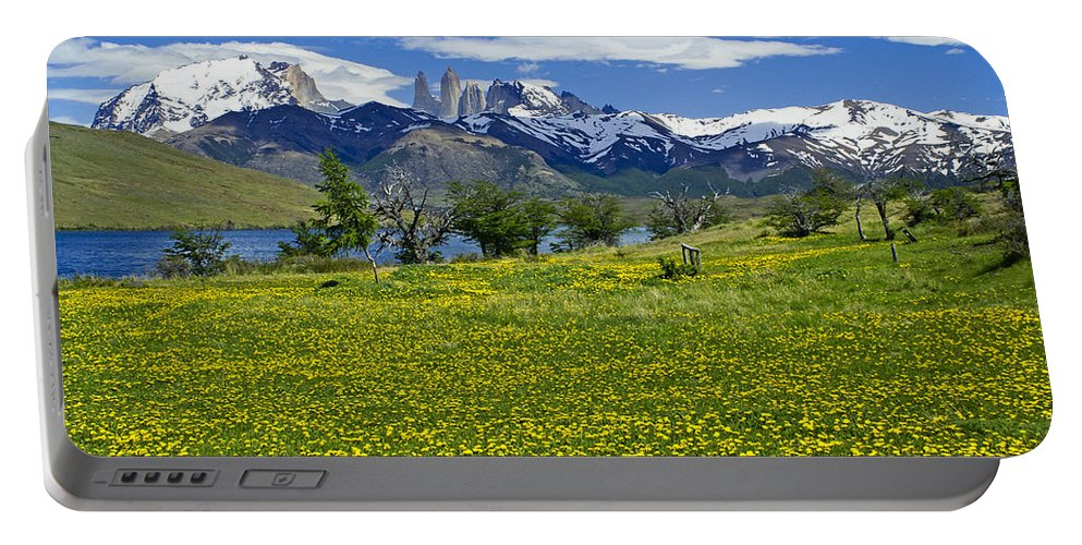 Patagonia Portable Battery Charger featuring the photograph Springtime In Torres Del Paine by Michele Burgess
