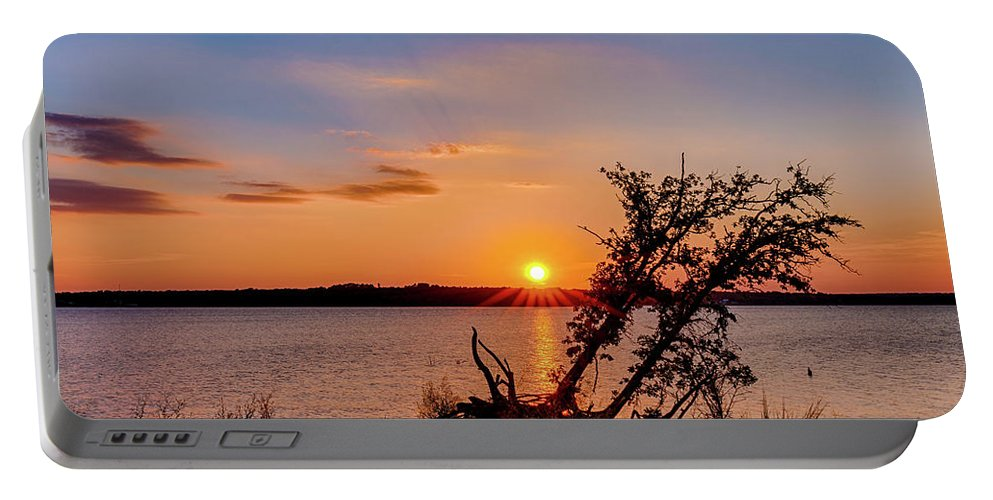 Horizontal Portable Battery Charger featuring the photograph Sunset by Doug Long
