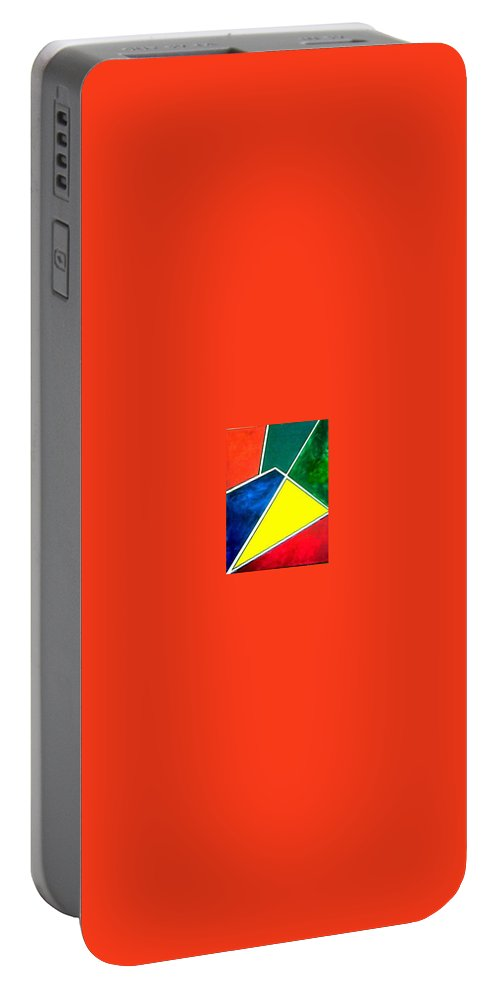 Primary And Sondary Colors Portable Battery Charger featuring the painting 99870 Colors by Andrew Johnson