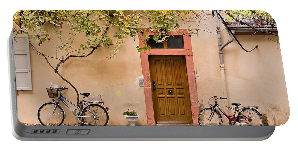 Travel Portable Battery Charger featuring the photograph A Back Lane In Speyer by Louise Heusinkveld