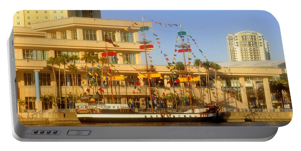 Jose Gasparilla Portable Battery Charger featuring the photograph A Beautiful Day In Tampa Bay by David Lee Thompson