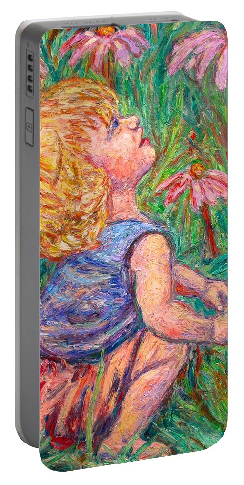 Child Portable Battery Charger featuring the painting A Beautiful Moment by Kendall Kessler