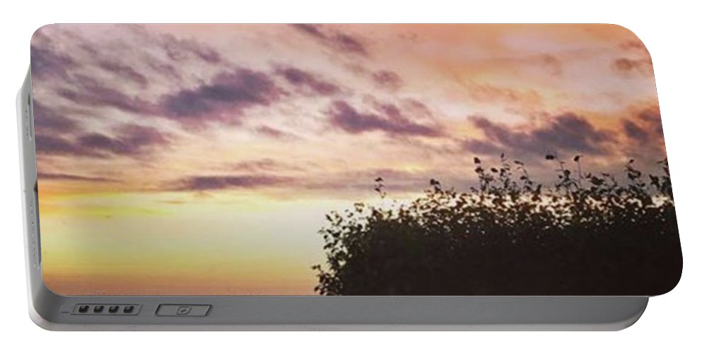 Norfolklife Portable Battery Charger featuring the photograph A Beautiful Morning Sky At 06:30 This by John Edwards