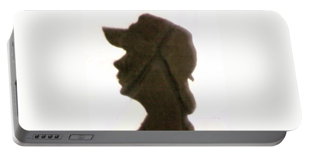 Boy Portable Battery Charger featuring the photograph A Boy's Shadow In Rock by Cindy New
