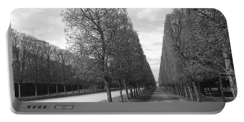 Trees Portable Battery Charger featuring the photograph A Break In The Trees by Tom Reynen