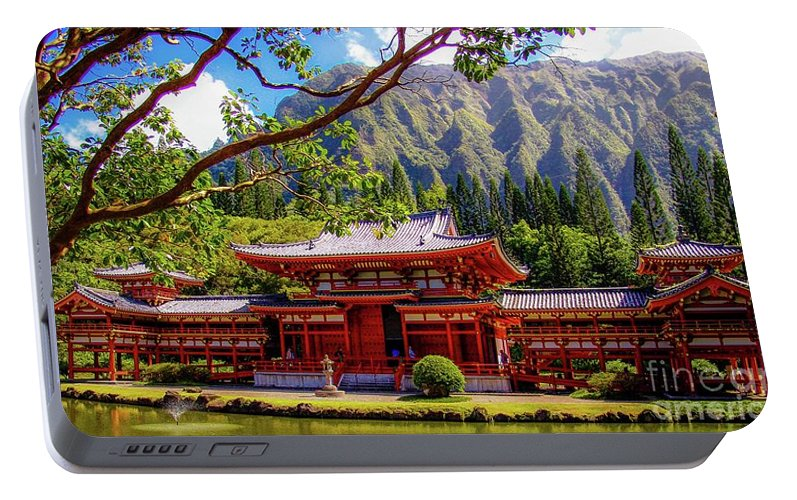 Buddhist Portable Battery Charger featuring the photograph Buddhist Temple - Oahu, Hawaii - by D Davila