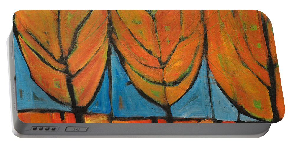 Fall Portable Battery Charger featuring the painting A Change Of Seasons by Tim Nyberg