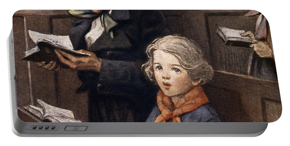 Aod Portable Battery Charger featuring the painting A Christmas Carol by Granger