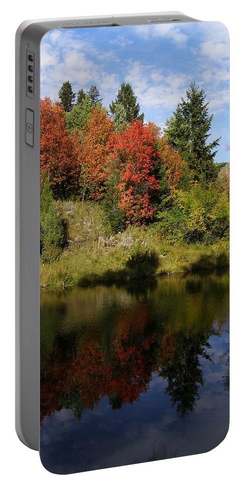 Nature Portable Battery Charger featuring the photograph A Colorful Reflection by DeeLon Merritt
