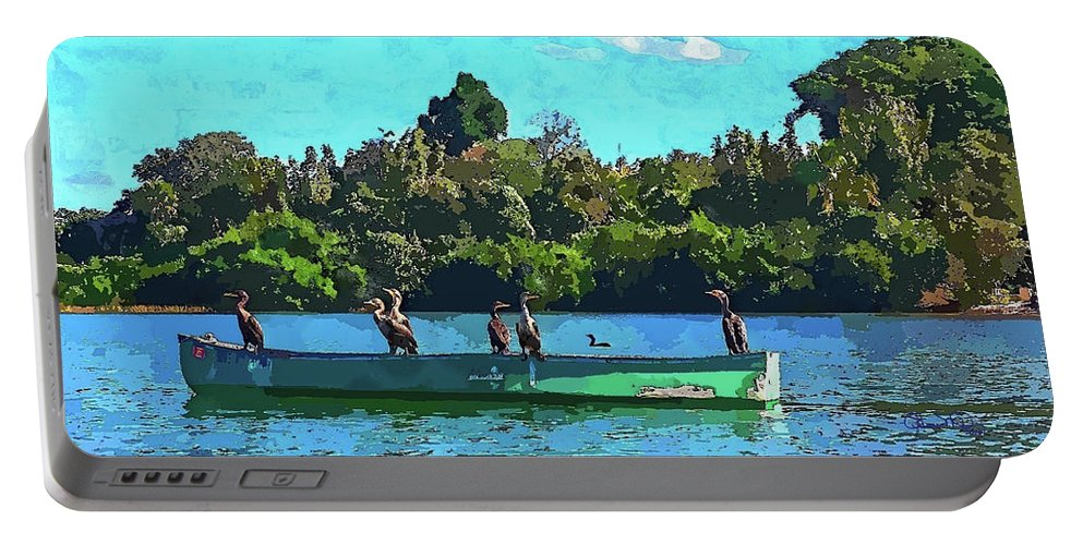 Susan Molnar Portable Battery Charger featuring the photograph A Cormorant Cruise 2 by Susan Molnar