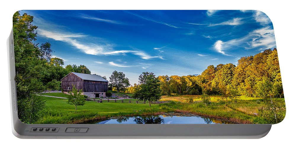Pond Portable Battery Charger featuring the photograph A Country Place by Steve Harrington