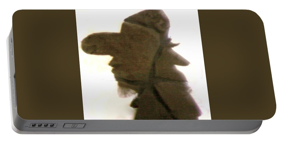 Cowboy Portable Battery Charger featuring the photograph A Cowboy's Shadow In Rock - 2 by Cindy New