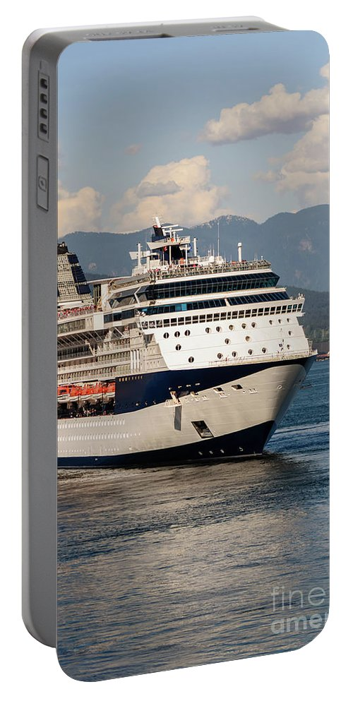 Portable Battery Charger featuring the photograph A Cruise Ship by Viktor Birkus