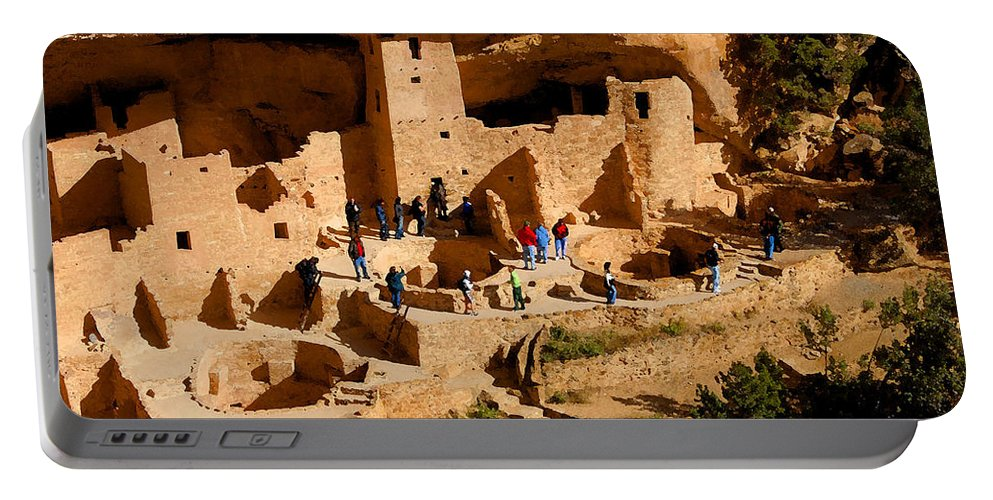 Art Portable Battery Charger featuring the painting A Day At Mesa Verde by David Lee Thompson