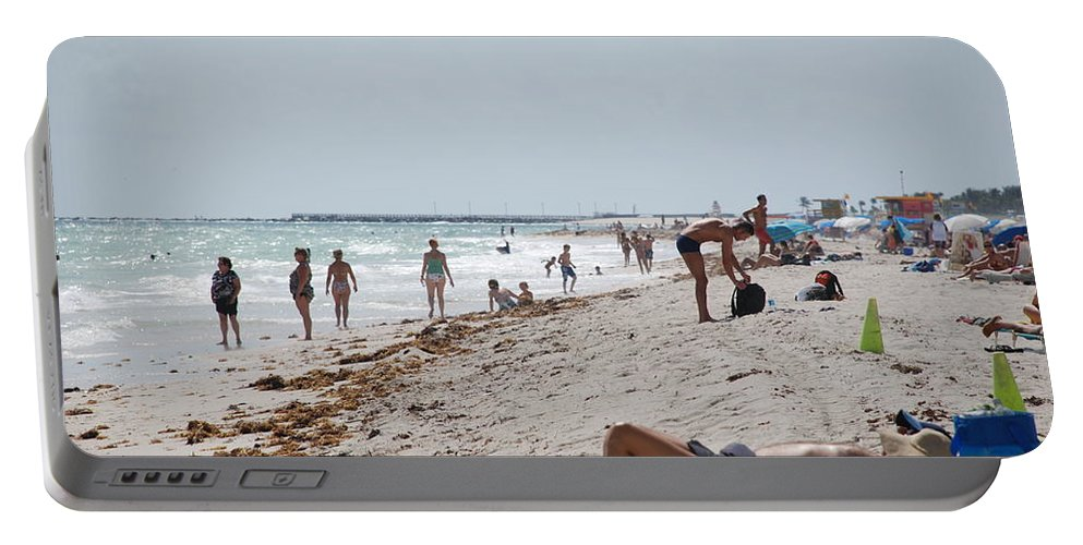 Nude Portable Battery Charger featuring the photograph A Day At Paradise Beach by Rob Hans
