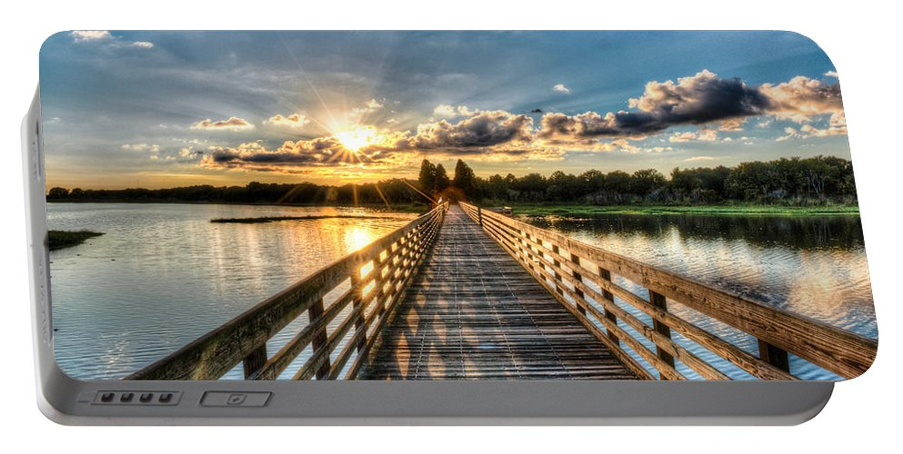 Lake Portable Battery Charger featuring the photograph A Day At The Lake by Ronald Kotinsky