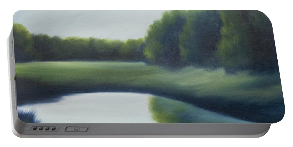 Clouds Portable Battery Charger featuring the painting A Day In The Life 2 by James Christopher Hill