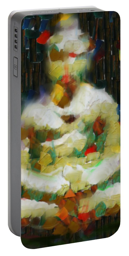 Abstract Portable Battery Charger featuring the digital art A Diamond Mind by Scott Smith
