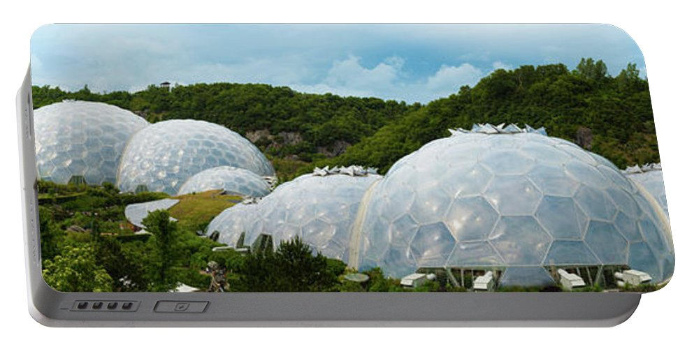 Eden Project Portable Battery Charger featuring the photograph A Dome Away From Dome by Kevin Williams