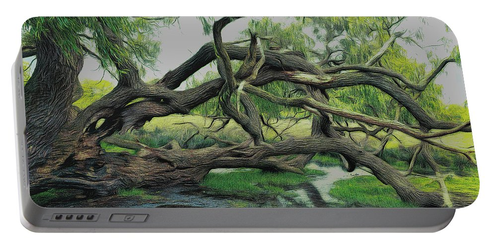 Tree Portable Battery Charger featuring the digital art A Dramatic Change Of Perspective by Leigh Kemp