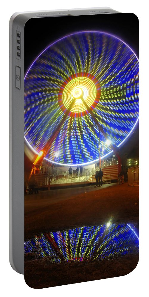 Florida State Fair Portable Battery Charger featuring the photograph A Fair Reflection by David Lee Thompson