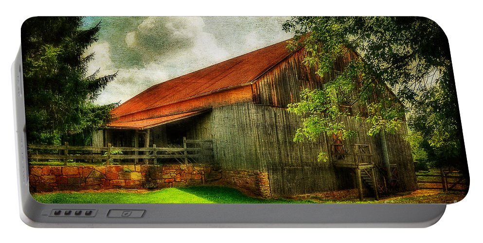 Barn Portable Battery Charger featuring the photograph A Farm-picture by Lois Bryan
