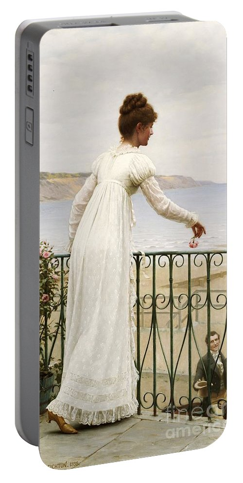 A Favour Portable Battery Charger featuring the painting A Favour by Edmund Blair Leighton